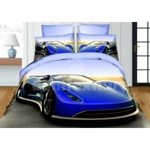 Posteľné obliečky pre deti s luxusným modrým autom