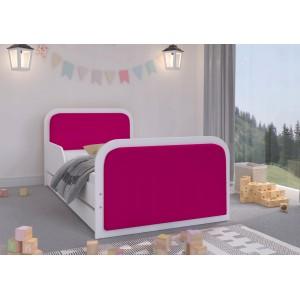 Elegantná detská posteľ 180 x 90 cm pre dievčatá s ružovým čalúnením