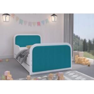 Nádherná detská posteľ 180 x 90 cm s modrým  čalúnením