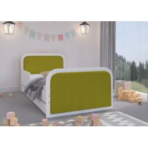Nádherná detská posteľ 180 x 90 cm s kvalitným čalúnením v zelenej farbe