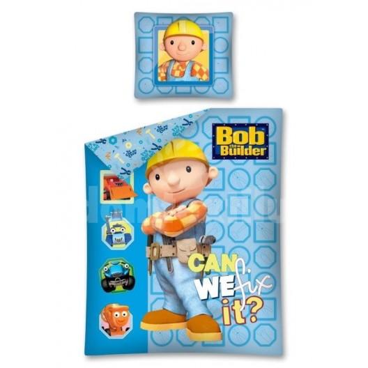 Modré detské obliečky Bob Builder