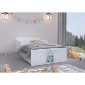 Rozkošná detská posteľ 180 x 90 cm s nádherným levíkom