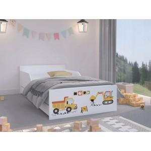 Vysoko kvalitná detská posteľ  180 x 90 cm pre malých stavbárov