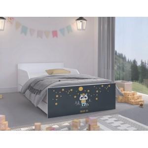 Tmavšia detská posteľ s nočnou oblohou 180 x 90 cm