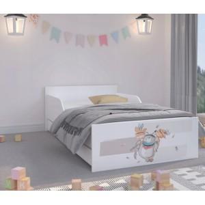 Úchvatná detská posteľ  180 x 90 cm so zvieratkami