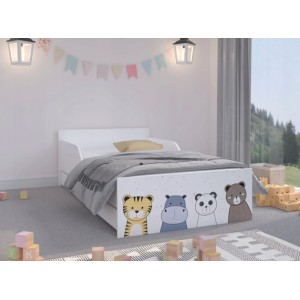 Kvalitná detská posteľ 180 x 90 cm s rozprávkovými zvieratkami