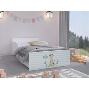Moderná detská posteľ 180 x 90 cm so žirafou