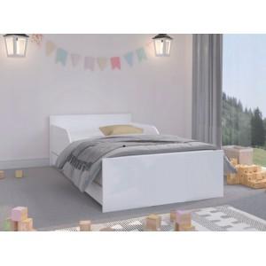 Univerzálna detská posteľ v klasickej bielej farbe 180 x 90 cm