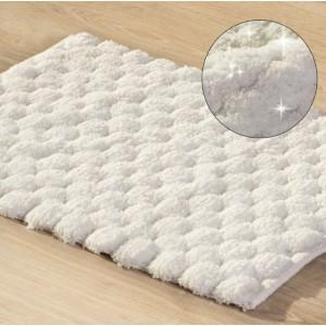 Biely kúpeľňový koberček 50 x 70cm