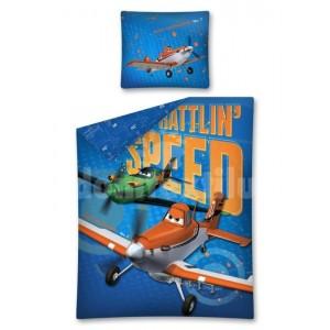 Modré detské obliečky s motívom lietadiel