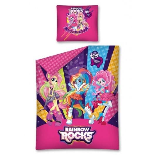 Detské posteľné obliečky fialovo ružové Rainbow Rocks